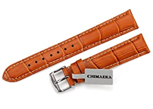 Handcraft!! 19mm Alligator Crocodile Grain Genuine Leather Watch Band Strap & 18mm S/S Tang Buckle for Longines