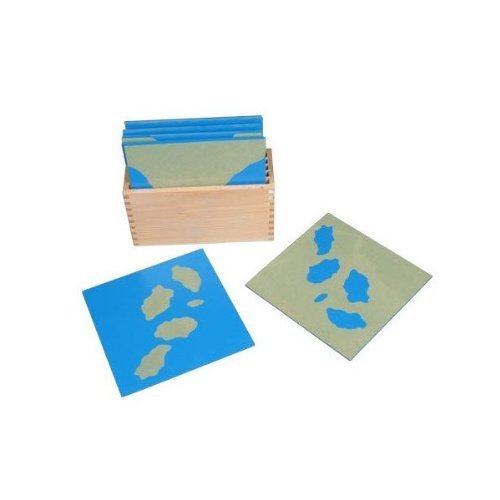 Montessori Sandpaper Land and Water Form Cards