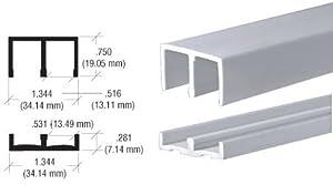 """CRL Plastic Track and Upper Guide for 1/2"""" Sliding Panels - 6 ft long"""