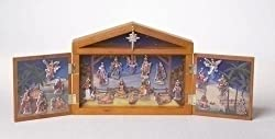 Fontanini 25-Piece Nativity Advent Calendar Set With Wooden Stable #65400
