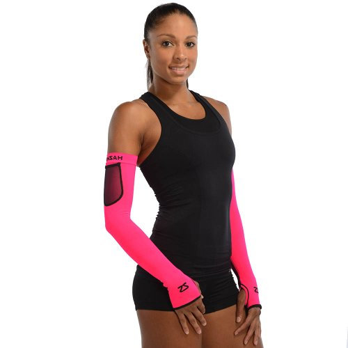 Zensah Limitless Compression Arm Warmers, Neon Pink, Small/Medium Mesh Arm Warmers