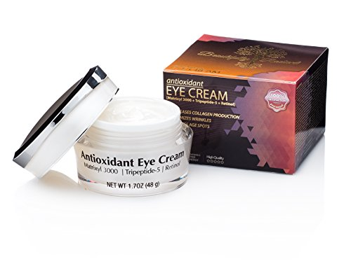 Beautifully Radiant's Antioxidant Eye Cream- For Erasing Fine Lines and Wrinkles, Smoothing Crows Feet, Brightening Black/ Dark Circles, and Reducing Puffiness. Good for Day/ Night- 1.7OZ (48g) . (Cream Under The Eye compare prices)