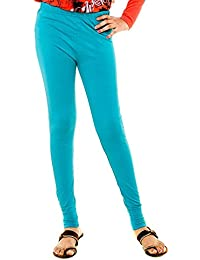 Himayat Women's Cotton Leggings (Himayat 07_Turquoise_Medium)