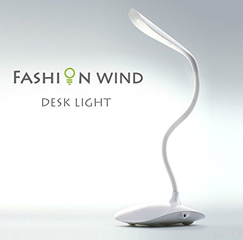 Lampada led touch da scrivania flessibile senza fili per Notebook ricaricabile