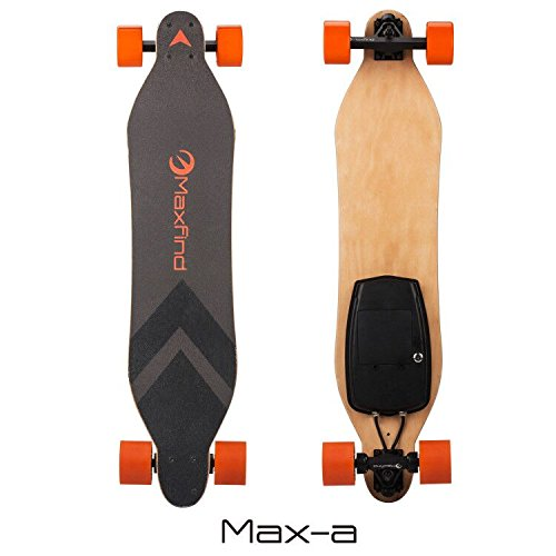 MAXFIND Board Dual Motor Wheels Electric Skateboard Longboard with Remote Control