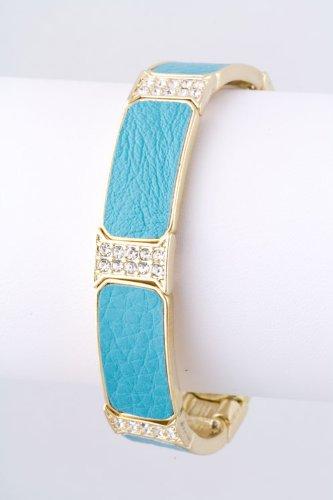 Baubles & Co Leatherette Metal Bracelet (Turquoise) front-821768