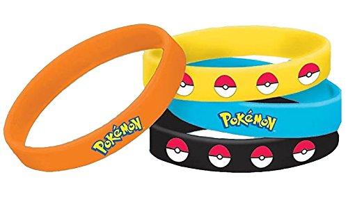 Amscan International-394436Pokémon braccialetto in gomma
