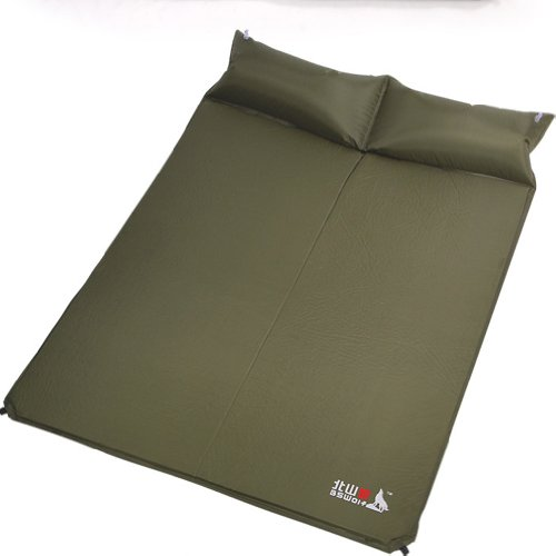 Lightweight Self-inflating 2 Person Camp Pad Mattress with Pillow