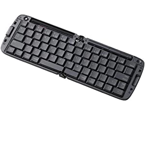ELECOM 折りたたみBluetoothキーボード iPhone,iPad,iPod touch対応 英字配列 ブラック TK-FBP017EBK
