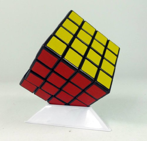 Shenshou @4x4x4 Competitve Speed Spring Magic Puzzle Cube Game Intelligence Fancy Toy (Black)