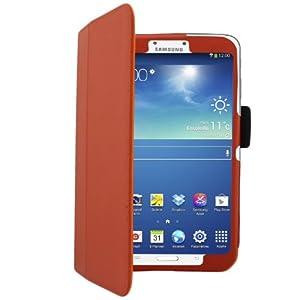 Bestwe Ultra Slim Protective Ledertasche Flip Case Tasche Etui für Samsung Galaxy Tab 3 8.0 mit Ständerfunktion--Multi Color Options (Samsung Galaxy Tab 3 8.0, Orange)