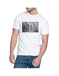 Chillum Men's Cotton T-shirt White - B00R9ETK9C