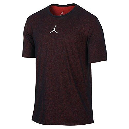 Nike Mens Jordan Motion Dri-Fit T-Shirt Black/Infrared 23/White 789620-010 Size Large