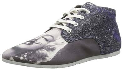 Eleven Paris Basmous, Sneakers Hautes femme, Argent (Marilyn Glitter), 37 EU