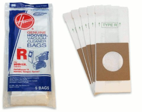 Hoover Bag Paper Type R Canister Tempo Sprint 5 Pack back-256162
