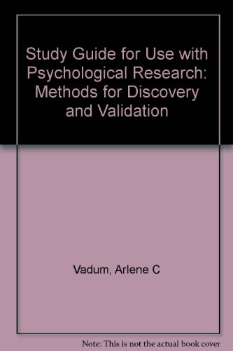 Student Study Guide for use with Research Methods PDF