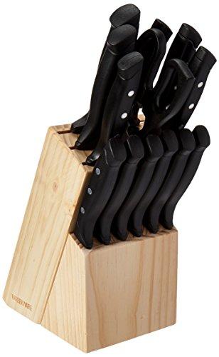 Farberware 22-Piece Wave Edge Stainless Steel Knife Block Set (Kitchen Knife Set Farberware compare prices)
