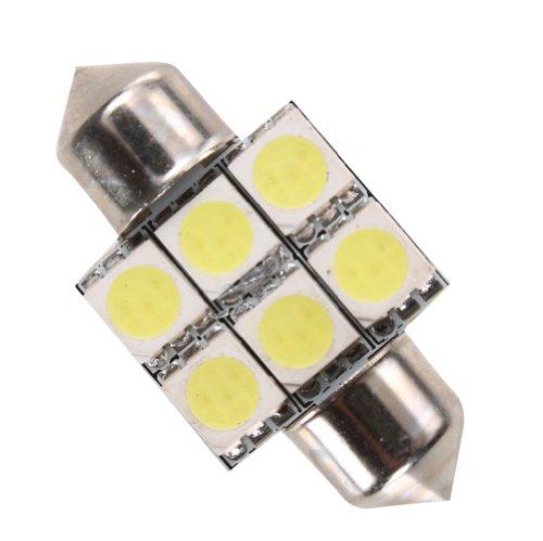 Lighting Ever 1.22 In 31Mm Festoon Bulb, Led Automotive Lighting, License Plate Light & Tail Light, Daylight White, Pack Of 2 Units