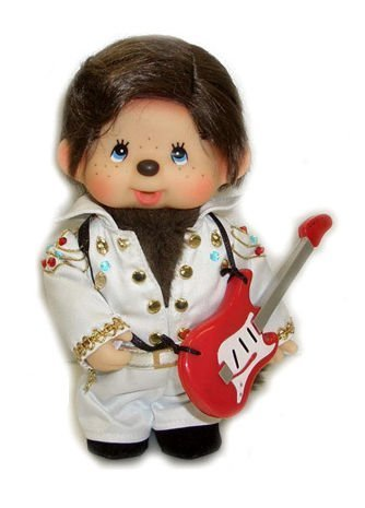 "Sekiguchi Authentic Limited Edition & Collection Doll Monchhichi Elvis Presley 8"" (20 cm) . - 1"