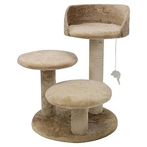 27 Casita Fur Cat Tree In Tan Premium Cat