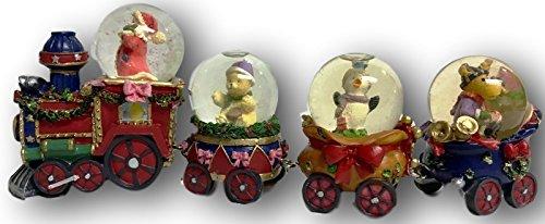 Santa & Friends Snow Globe Train ~