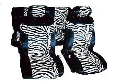 ZEBRA Black / White Print Car Seat Covers