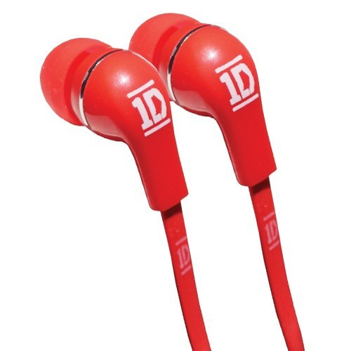 One Direction In-Ear Headphones - Jellies/Red