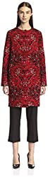 M Missoni Women's Knit Coat, Red, 44 IT/10 US
