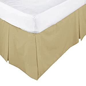 •ROHILinen• Luxury 68 Pick Biscuit King Base Valance sheet