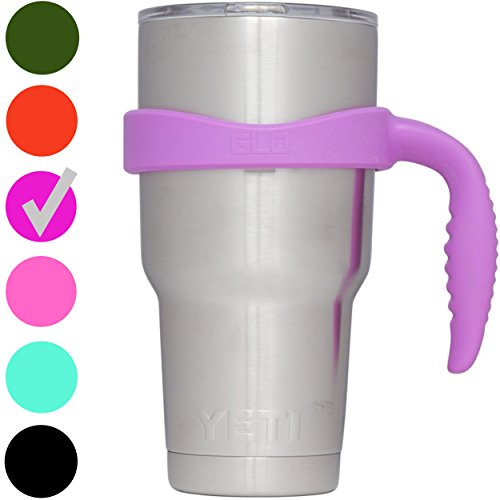 GLO - YETI Tumbler Cup Color Handle For 30 Oz Rambler - Fits Ozark Trail, RTIC & more - (Purple)