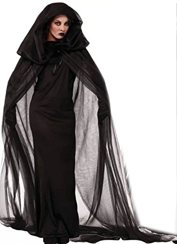 NonEcho Women's Black Witch Vampire Halloween Costume Party Costume for Adult