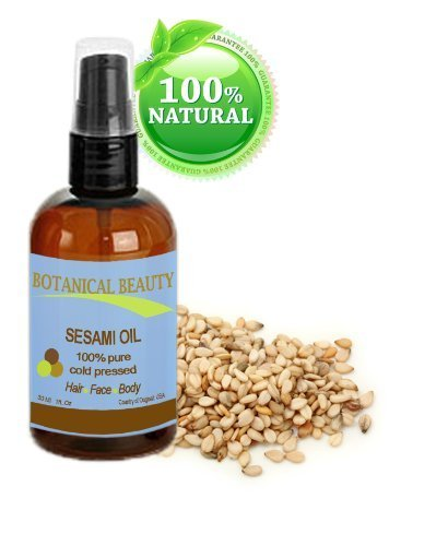 Botanical Beauty Sesame Oil, 100% Pure, Cold Pressed.. 1 oz-30 ml