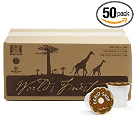 Coffee People, Donut Shop K-Cups for Keurig Brewers (Pack of 50) [Amazon Frustration-Free Packaging]