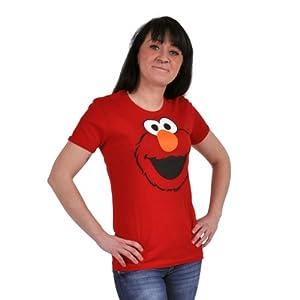 Barrio Sésamo - Camiseta la cara de Elmo - Rojo de Elbenwald - BebeHogar.com