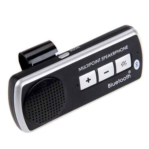 Portable Handsfree Car Kit Bluetooth Multipoint Speakerphone - Black