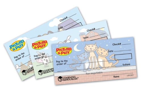 Learning Resources LER2656 Pretend & Play Checkbook Checks - 1