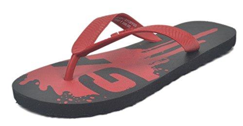 Gas GAS Splash Flip Flops Black\/Red (Multicolor)