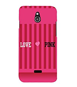 printtech I Love Pink Back Case Cover for Infocus M2