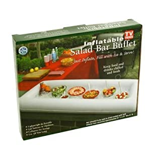 TV Trends 4450 Inflatable Salad Bar, White 51 x 21 x 5 Inch