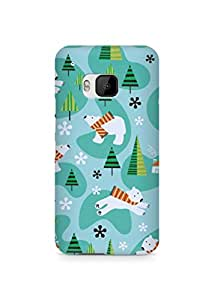 Amez designer printed 3d premium high quality back case cover for HTC One M9 (Design Bear)