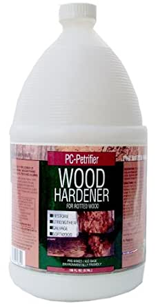 PC Products PC-Petrifier Water-Based Wood Hardener, 1 gal Bottle, Milky White