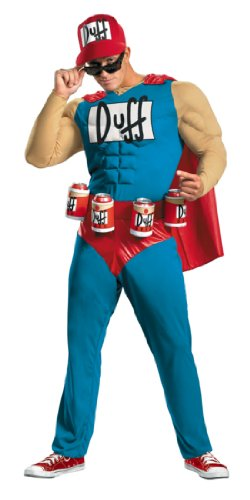 Simpsons Duffman Muscle 42-46 Adult Mens Costume