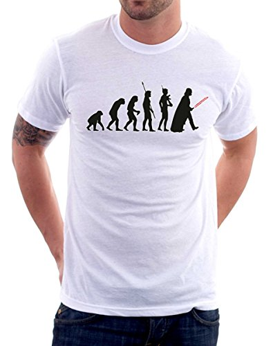 t-shirt star evolution-evoluzione humor S M L XL XXL maglietta by tshirteria