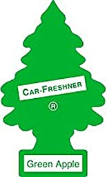 Little Trees Hanging Car and Home Air Freshener, Green Apple (Pack of 24)