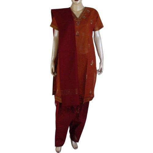 Latest Salwar Kameez Cotton Printed Embroidered Dress Size (S/36)