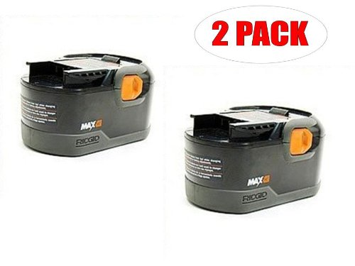 Ridgid R8411503 Drill Replacement 18-Volt NiCad MAX 2.5 Ah Battery (2-PACK) # 130254011-2PK