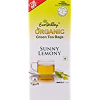 Eco Valley Organic Green Tea, Sunny Lemony, 50 Tea Bags