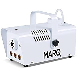 MARQ Fog 400 LED | 400W Water-Based Special Effects Fog Machine with Amber-Color LED Lights (White)