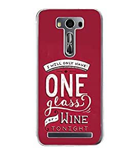 ifasho drink quotes Back Case Cover for Asus Zenfone Selfie