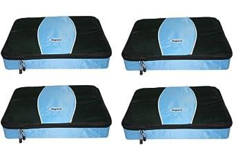 Baglane Packing Cube Bags - Mesh Travel Organizers - 4pc Set (XS) (Blue)